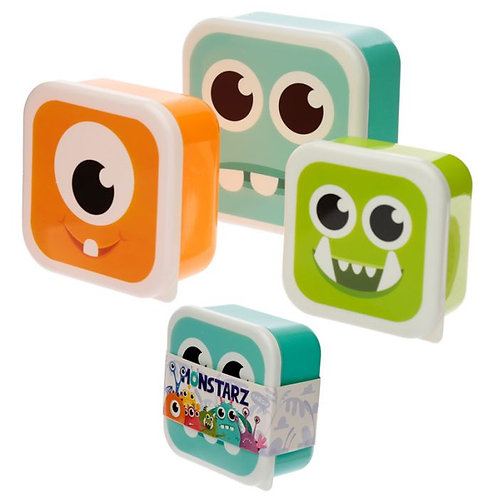 Set of 3 Lunch Boxes - Monstarz Monster