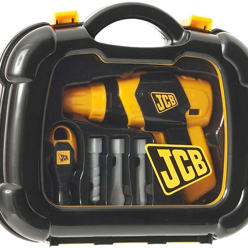 JCB DRILL WITH ATTACHMENTS & TOOL CASE