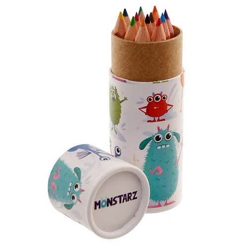 Monstarz Monster Pencil Pot with Colouring Pencils