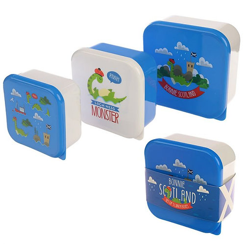 Set of 3 Lunch Boxes - Nessie Bonnie Scotland