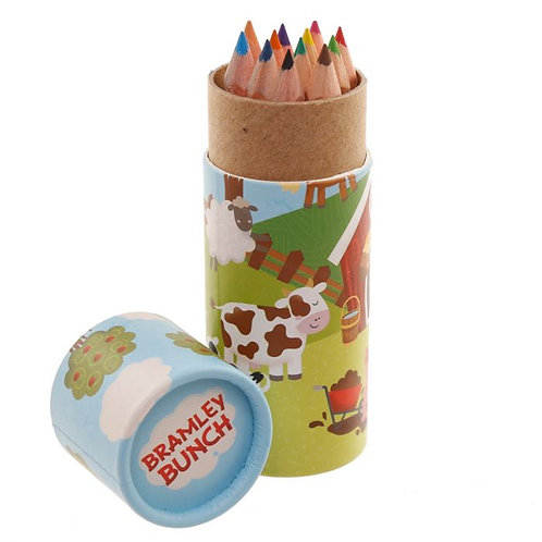 Bramley Bunch Farm Pencil Pot with Colouring Pencils