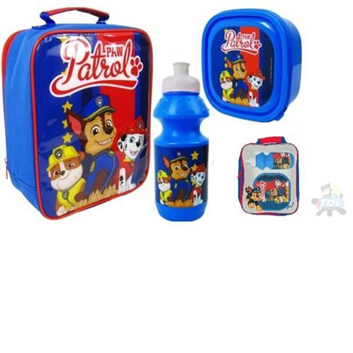 3pce Paw Patrol Lunch Bag Set