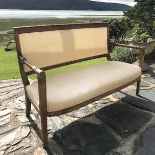 Edwardian Walnut 2 Seater Sofa French influenced 140 x W54 x H90.jpg