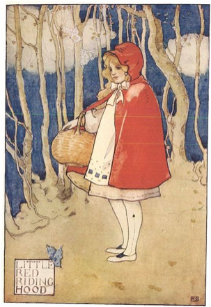 Little Red Riding Hood, illustrated in a 1927 story anthology