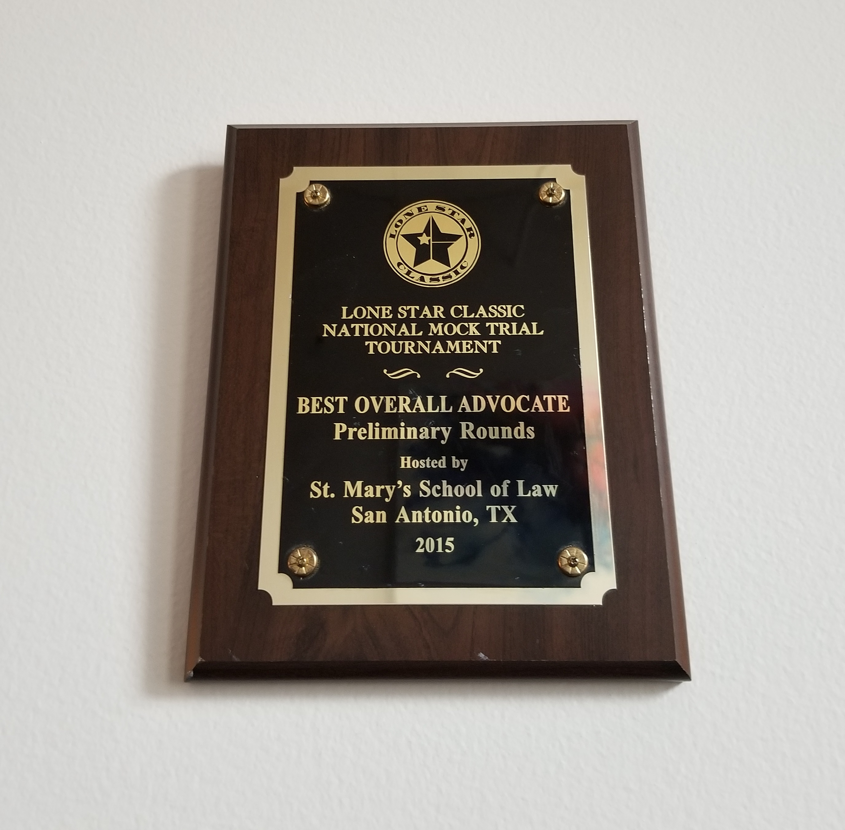 BEST OVERALL ADVOCATE AWARD