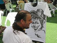 אטרקציות לבת מצווה- קריקטורות על חולצות