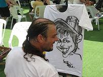 אטרקציות לבר מצווה קריקטורה על חולצות