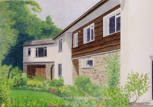 Commissioned portrait of a home