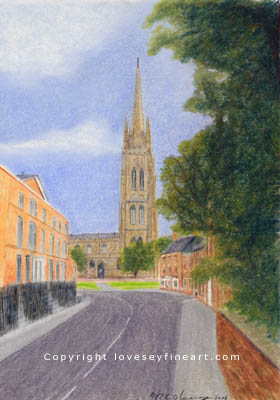 St James, Louth card illustration