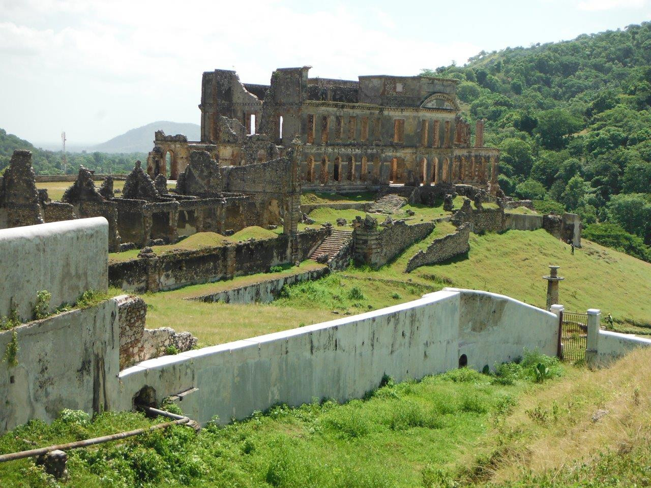 The ruins of Sans-Souci Palace – a national park where King Christophe lived