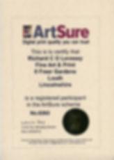 ArtSure certificate