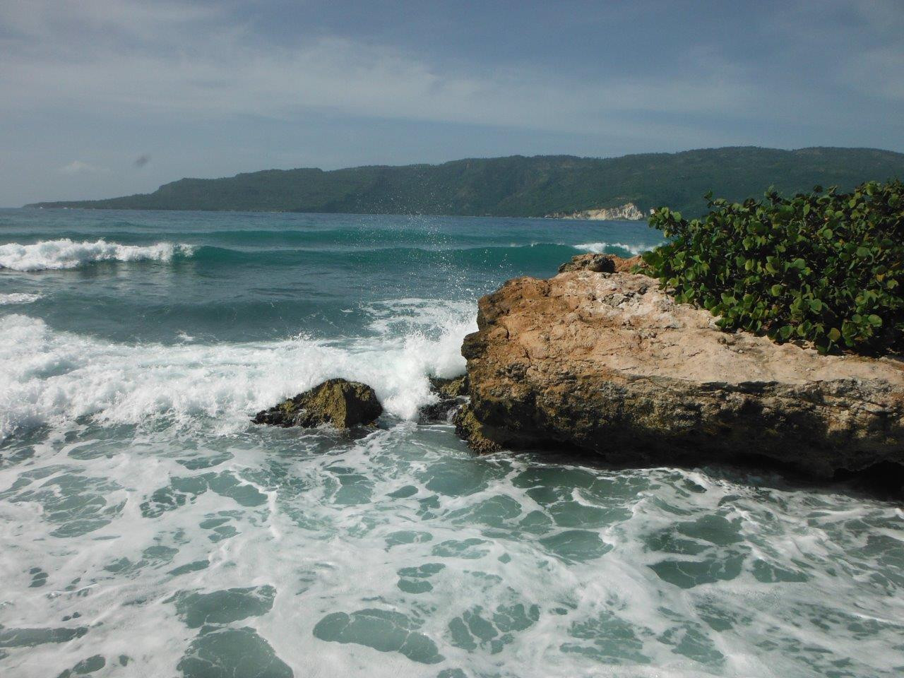 The Bay of Jacmel from below Cap Lamandou Hotel