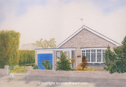 Commissioned portrait of bungalow