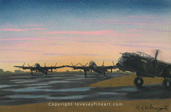 'Before the Raid' (Lancasters)