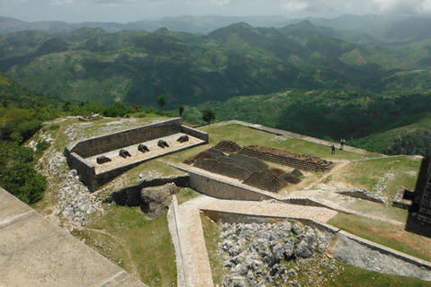 One of the amazing views from the Citadel – armaments never used by King Christophe