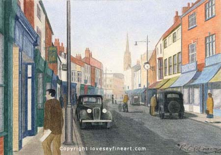 'Eastgate Louth' in 1930's'