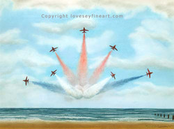 'Lincolnshire Reds' (Red Arrows)