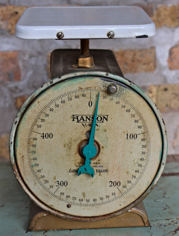 500 gram usa kitchen scale by hanson brothers scale co c 1929