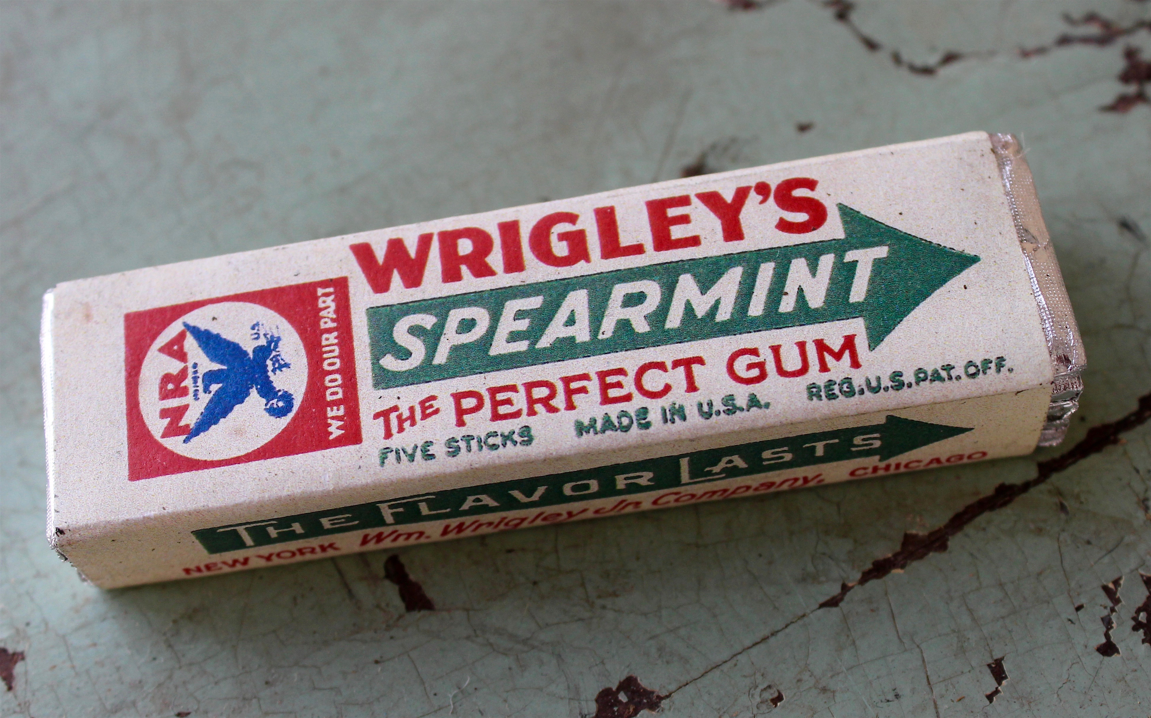 Wrigley spearmint gum pack by wm wrigley jr company 1932 made wrigley spearmint gum pack by wm wrigley jr company 1932 made in chicago museum buycottarizona Images