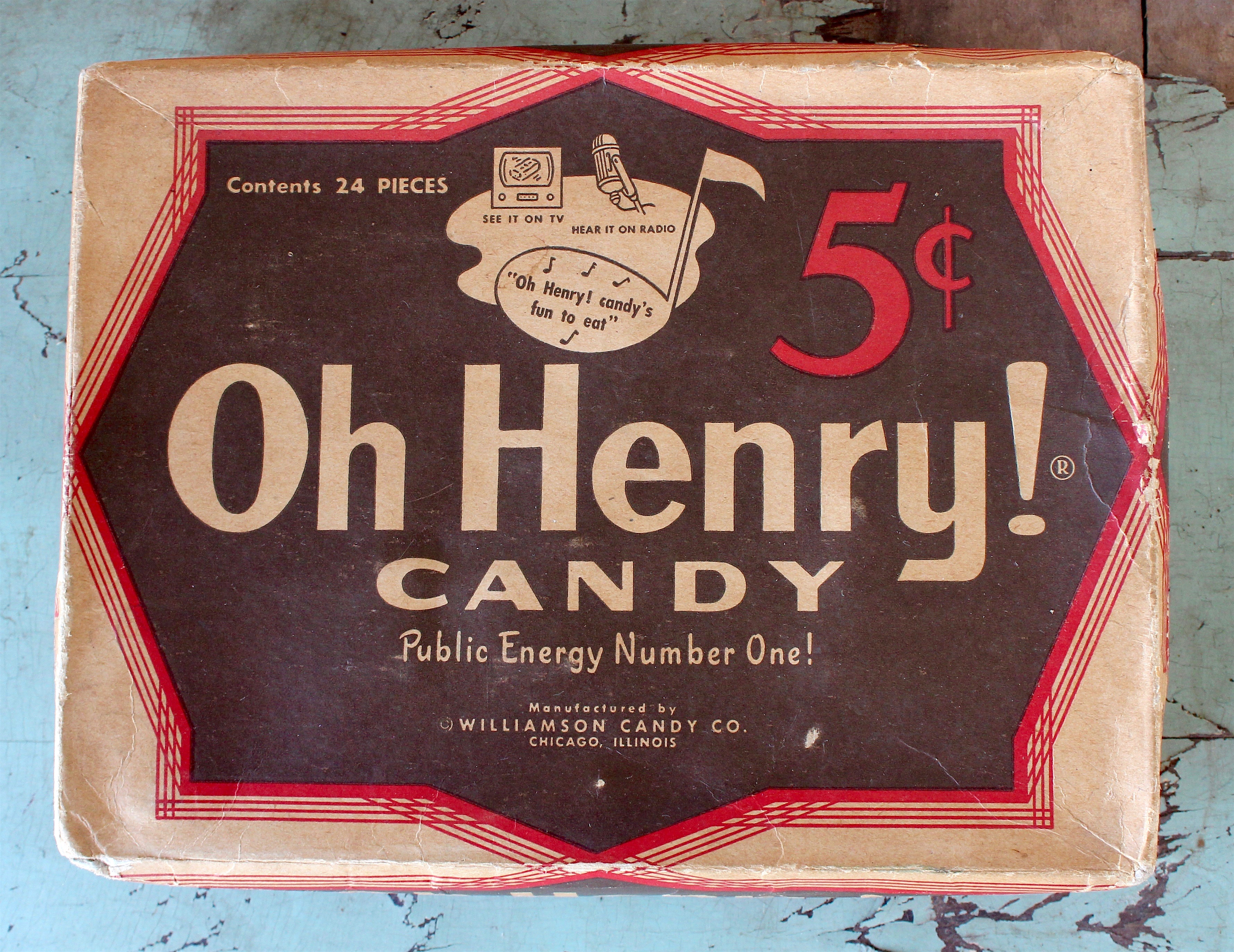 History of the Williamson Candy Co  and Oh Henry!