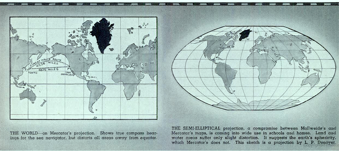 Denoyer geppert co history made in chicago museum one of lp denoyers most famed contributions to the industry was the semi elliptical projection an improvement on the classic mercator projection that gumiabroncs Image collections