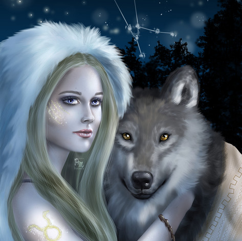Taurus - Girl with wolf