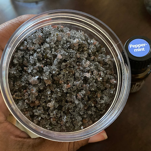 Charcoal Peppermint Sugar Scrub
