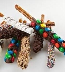 more chocolate pretzels