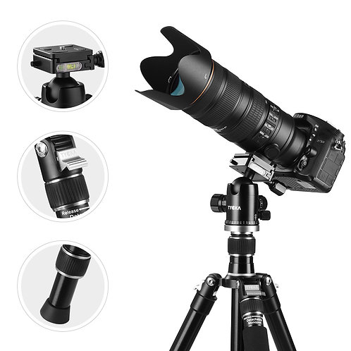 Professional 1670mm Aluminum Camera Tripod