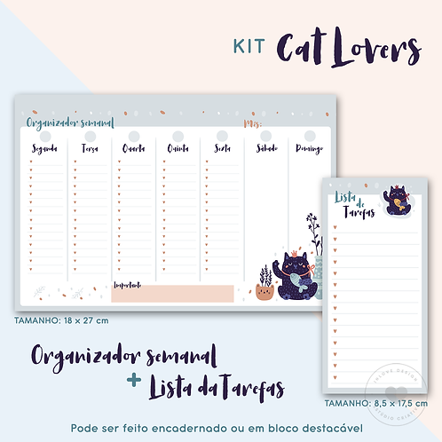 Kit Cat Lovers Organizador + Lista