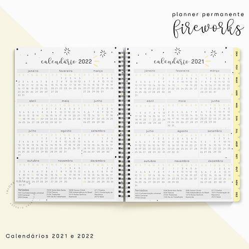 Calendário 2021/2022 Planner Fireworks