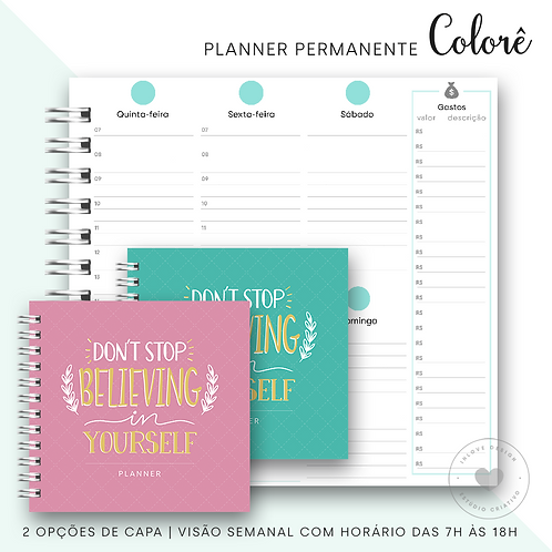 Planner Permanente Colorê