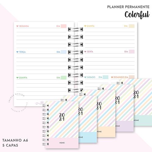Planner Permanente Colorful A6