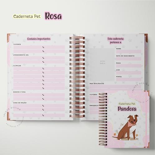 Caderneta pet Rosa