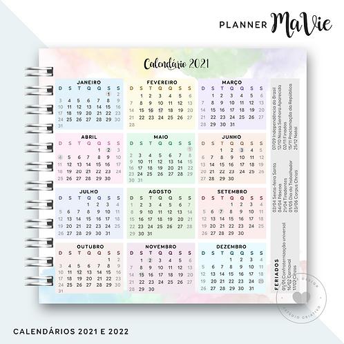 Calendário 2021/2022 Planner MaVie 20x21