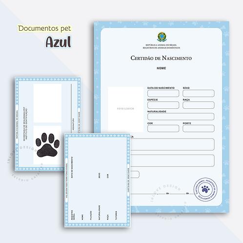 Documentos Pet Azul