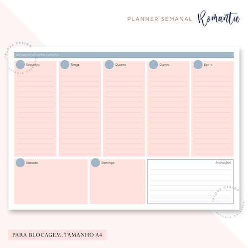 Planner Semanal Romantic