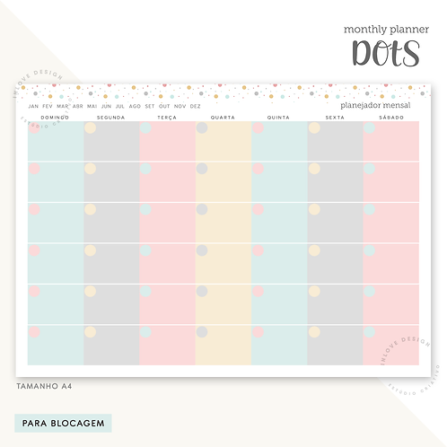 Monthly Planner Dots