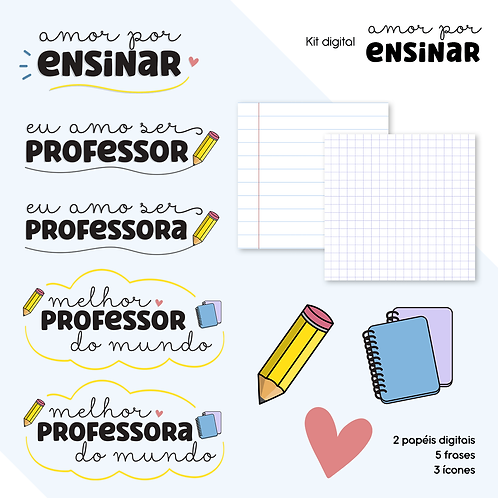 Kit Digital Amor Por Ensinar