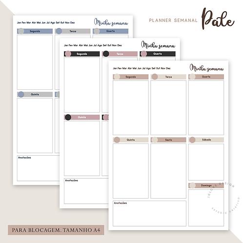 Planner Semanal Pale A4