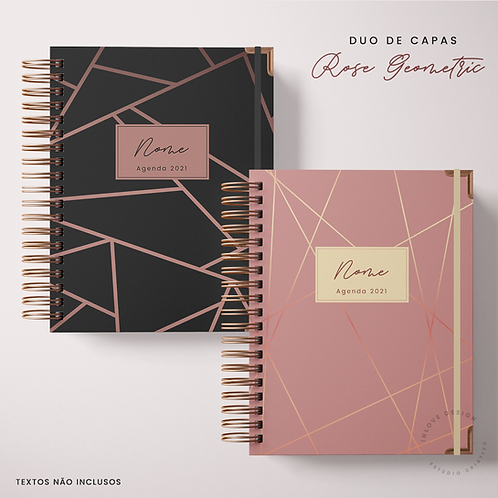 Duo de Capas Rose Geometric