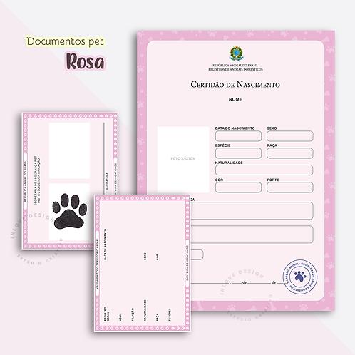 Documentos Pet Rosa