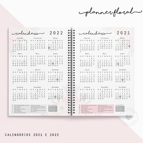 Calendário 2021/2022 Planner Floral