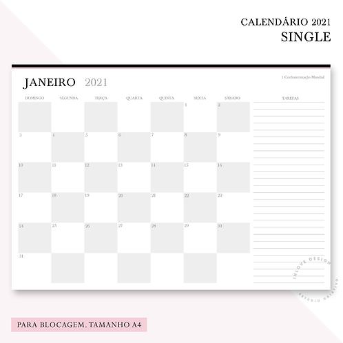 Calendário 2021 Single