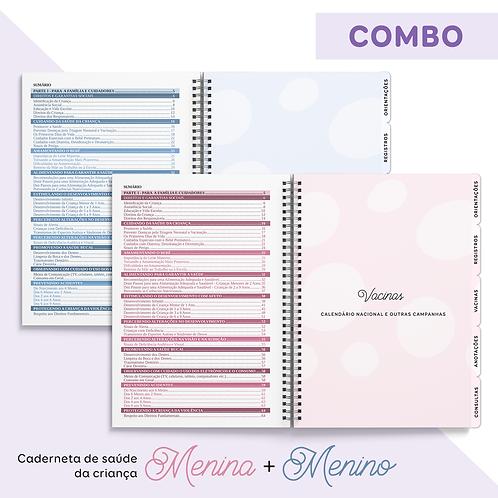 Caderneta de Saúde da Criança COMBO Menino + Menina