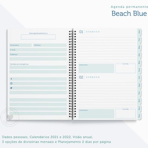 Agenda Permanente Beach Blue