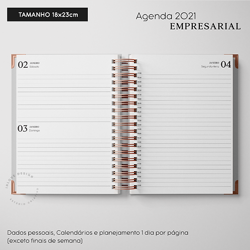 Agenda 2021 Empresarial 18x23cm