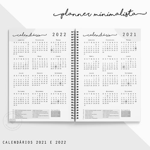 Calendário 2021/2022 Planner Minimalista