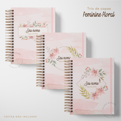 Trio de Capas Feminine Floral