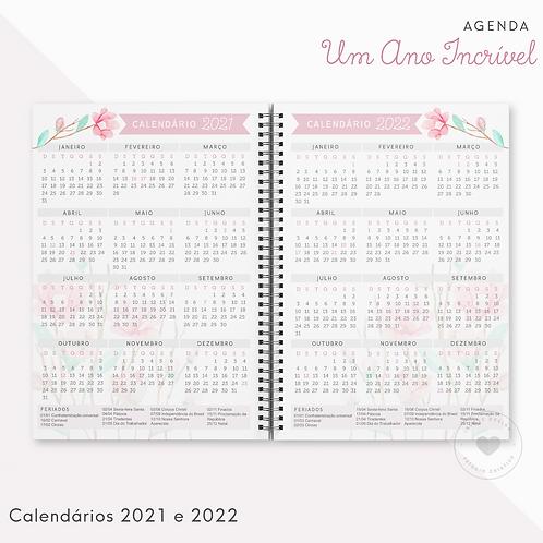 Calendário 2021/2022 Agenda Um Ano Incrível